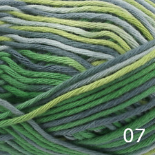 Rico Creative Cotton Aran Print Knitting & Crochet Yarn - Green Grey Mix 007