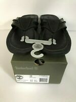 TIMBERLAND ORIGINALS MEN BLACK FULL GRAIN LEATHER SIZE 12  THONG SANDALS