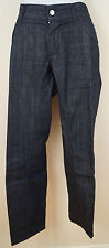 DOLCE & GABBANA Menswear Blu Navy Indigo Gamba Dritta Con Logo Jeans Denim Sz:32