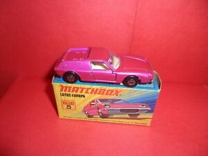 Matchbox Sup/fast #5-Lotus Europa,Nr Mint In Excellent Original Box,NOS,1969/74.