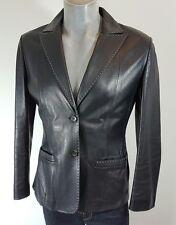 Cerruti 1881 black leather short jacket size 14