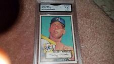 1952 TOPPS MICKEY MANTLE RARE ROOKIE REPRINT BASEBALL CARD GRADED GEM MINT 10