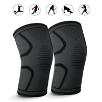Pain Relief Compression Knee Sleeve Brace/Running/Arthritis/Joint Support/Tennis