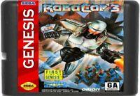 RoboCop 3 (1992) 16 Bit Game Card For Sega Genesis / Mega Drive System