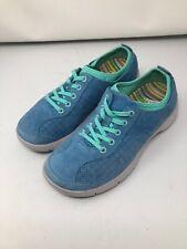 Dansko Elise Women's SIZE 37 Lace-up Suede Oxford Sneakers BLUE / GREEN Comfort