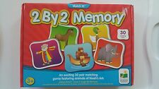 The Learning Journey Match It Memory Game Preschool Noah's Ark 2 by 2 New In Box