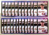 25) CURT SCHILLING Baltimore Orioles - HOF - 1989 Donruss Baseball Card RC LOT
