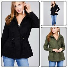 Military Anorak Safari  Woman'sJacket with Pockets and Hood Jacket Coat(S-L)