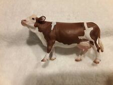 New ListingSchleich Brown And White Cow, Pre-owned