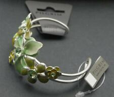 Pilgrim Danish Design Green Floral Cuff Bracelet Fashion Jewelry