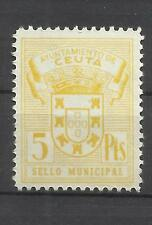 5651-ANTIGUOS SELLOS FISCALES AYUNTAMIENTO CEUTA ESPAÑA NORTE AFRICA MNH**.SPAIN