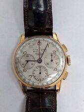 Breitling Datora 785 18K Gold Triple Chronograph Hand Winding Watch - Vintage