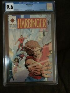 Harbinger #2 CGC 9.6 White pages Valiant 1st Rock Swallow Sparrow