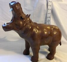 Hippopotamus made of leather