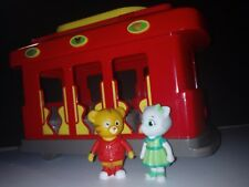Daniel Tigers Neighborhood Trolley Car w Light & Sounds 2 Figures PBS Mr Rogers
