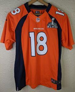 NIKE On Field Denver Broncos Peyton Manning Super Bowl 50 Jersey Youth Large L