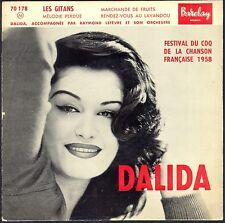 DALIDA 45T EP N° 12 BARCLAY 70.178 LES GITANS POCHETTE RARE et NEUVE MINT