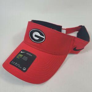 Nike DriFit Georgia UGA Bulldogs Visor Unisex Adult Adjustable Red Cap Hat New