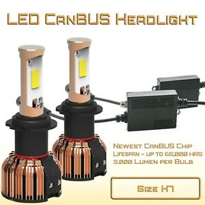 6000K Error Free LED Headlight Kit - H7 Conversion Kit for High Beam