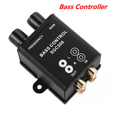 1x Car Home Remote Level Amplifier Subwoofer Equalizer Crossover Bass Controller