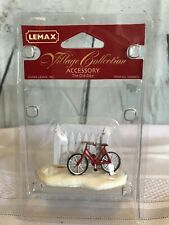 "LEMAX Figurine ""The Old Bike""  by Picket Fence 44230 Village Collection 2004 NEW"