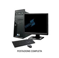 """PC COMPUTER POSTAZIONE COMPLETA INTEL LCD 17"""" 1GB WINDOWS 7 SEVEN PROFESSIONAL"""