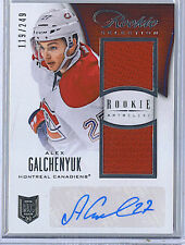 Alex Galchenyuk 2013-14 Panini Rookie Anthology Rookie Jersey Auto/Autograph