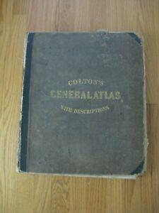 "1860 J. H. COLTON ""GENERAL ATLAS"""