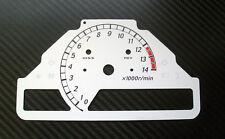 Honda cbr1000rr sc57 06-07 blancos de tacómetro velocímetro gauge dial noche Design