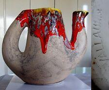 Etonnant motif abstrait Vintage Vallauris Vase pichet gout VALENTIN Gilbert