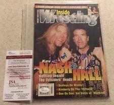 Iw Magazine March 2000 Scott Hall Kevin Nash Signed Autograph Nwo Wwe Wcw Jsa