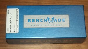 -BENCHMADE - NAKAMURA AXIS - 484S - M390 - BLUE CLASS - NEW IN BOX!