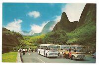 MAUI IAO NEEDLE Luxury Coaches Tours Volcanic Spire Hawaii Postcard HI 1972