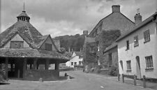 B/W Negative Dunster Somerset Village Scene 1946 +INC © DB1286