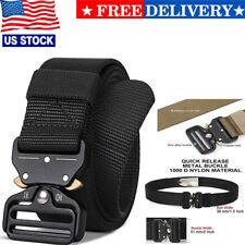 Mens Durable Tactical Belt Quick Release Buckle Rigger Nylon Web Belt Military