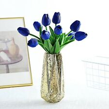 "10 Royal Blue 13"" Foam Tulips Flowers Single Stem Wedding Bouquets Centerpieces"