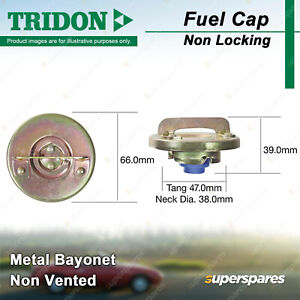 Tridon Non Locking Fuel Cap Metal Bayonet 38.0mm for Audi 5E 5+5 80 100 200