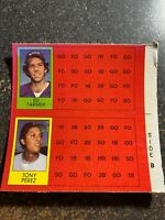 Tony Perez Red Sox/Ed Farmer 1981 Topps Scratch Off RARE BLACKLESS PROOF CARD