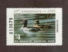 NH10 - New Hampshire State Duck Stamp. Single MNH.OG  #02 NH10
