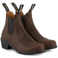 Blundstone Womens 1673 Chelsea Heel Ladies Boots Leather Shoes