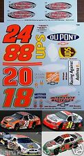 NASCAR DECAL 2003 #18 #20, #24, #88 VICTORY LAP PAST CHAMPIONS SUPPLEMENT JWTBM