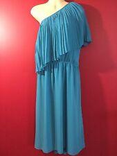LANE BRYANT Women's Turqouise One Shoulder Dress - Size 26/28 - NWT