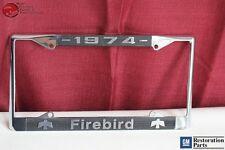 1974 GM License Pontiac Firebird Front Rear License Plate Tag Holder Frame New