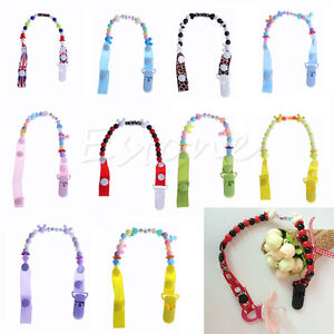 Toddler Baby Hand Made Dummy Pacifier Clip Chain Holder Soother Nipple Strap New