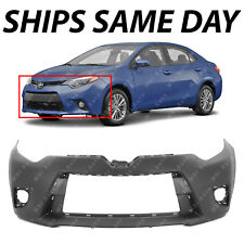 NEW Primered - Front Bumper Cover For 2014 2015 2016 Toyota Corolla Sedan 14-16