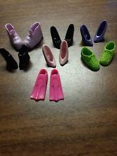 Mixed Lot 7 pair Barbie shoes sneakers heels flippers