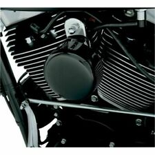 Drag Specialties Smooth Horn Cover For Harley Softail FLHX FLT FLHT Dyna ~ Black
