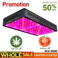 Mars Hydro ECO 600W LED Grow Light Full Spectrum IR Veg Bloom Indoor Plant Panel