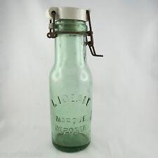 Große Flasche antike glas & porzellan L'IDEAL konserve/gläser/vintage