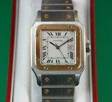 Cartier Santos 18k Gold Stainless Steel Automatic date Classic 29mm Men's Watch